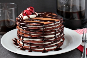 Chocolate Pancake Cake from ZoomYummy.com